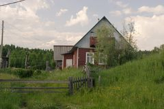 北部村庄,阿尔汉格尔斯克州oblast 免版税图库摄影