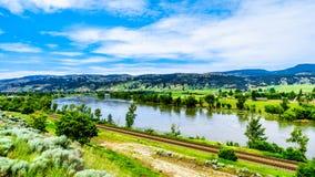 北部汤普森河在不列颠哥伦比亚省,加拿大 库存图片