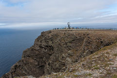 北部海角在挪威 免版税库存照片