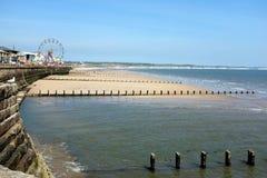 北部海滩和海湾, Bridlington,约克夏 免版税库存图片