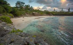 北部海滩Kaneohe陆战队基地夏威夷 免版税库存图片