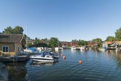 北部港口Vaxholm斯德哥尔摩群岛 库存图片