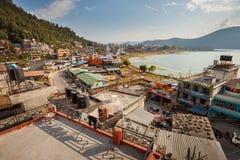 北部湖边,博克拉,尼泊尔 图库摄影