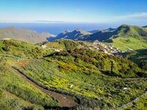 北部特内里费岛看法  图库摄影