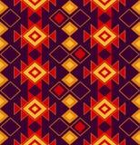 北部的人民的全国传染媒介装饰品 织品、纸或者网的部族无缝的样式 部族 皇族释放例证