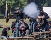 北部的军队在争斗的 免版税库存图片