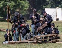 北部的军队在争斗的 免版税图库摄影