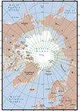 北部的映射 向量例证