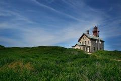 北部石块海岛的光 库存图片