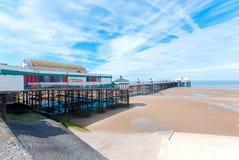 北部码头在布莱克浦 免版税库存照片