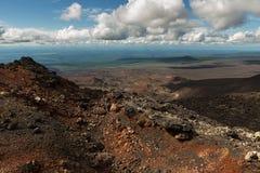 北部突破巨大扎尔巴奇克火山裂痕爆发1975年 库存照片
