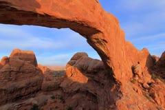 北部窗口曲拱,拱门国家公园,犹他,美国 库存照片