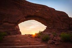 北部窗口,曲拱国家公园 图库摄影