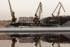 北部端口莫斯科 免版税库存照片