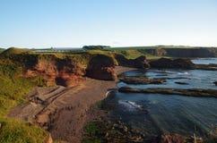 北部苏格兰峭壁 免版税图库摄影