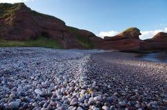 北部苏格兰峭壁 库存照片