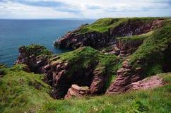 北部苏格兰峭壁 库存图片