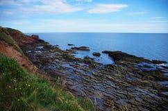 北部苏格兰峭壁 图库摄影