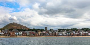 北部贝里克、一海滨城镇和前皇家自治都市在东洛锡安,大众湾的南岸的,苏格兰 库存照片