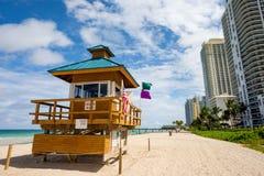 北部迈阿密海滩 库存照片