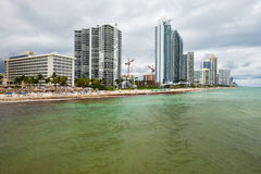 北部迈阿密海滩 库存图片