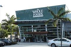 北部迈阿密, FL,美国- 2017年6月17日, :全食物市场超级市场 免版税库存图片