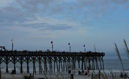 北部默特尔海滩木板走道码头 免版税库存照片
