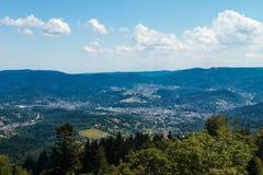 北部黑森林,德国鸟瞰图  免版税库存图片