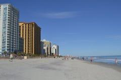 北部默特尔海滩旅馆视图 库存照片
