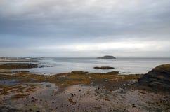 北部Berwick海滩 免版税库存照片