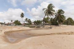 北部coastile,北里约格朗德,巴西 图库摄影