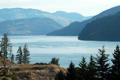 北部kalamalka的湖 库存照片
