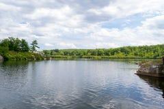 北部NY的湖 免版税库存照片