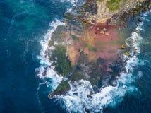 北部Turimetta礁石从上面 免版税库存照片