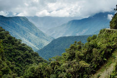 北部Yongas多山风景的全景  库存照片