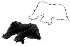 北里约格朗德地图传染媒介 向量例证