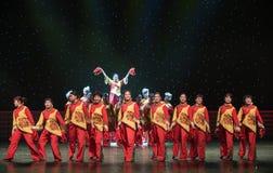 北陕西中国民间舞民歌  库存图片