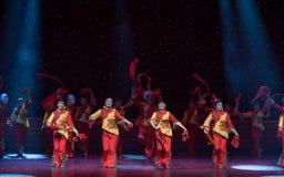 北陕西中国民间舞民歌  库存照片