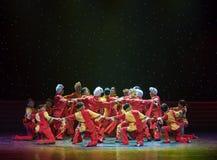 北陕西中国民间舞民歌  免版税库存照片