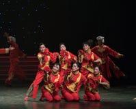 北陕西中国民间舞民歌  免版税库存图片
