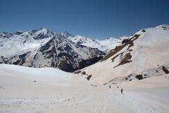 北高加索的山风景 免版税库存照片
