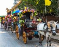 北Lampang是一个地方事件 游人将喜欢使用 免版税库存照片