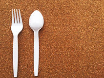 匙子和叉子 库存照片