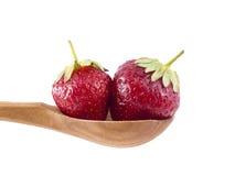 匙子草莓 库存照片