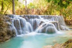 匡Si瀑布,琅勃拉邦,老挝 免版税库存图片