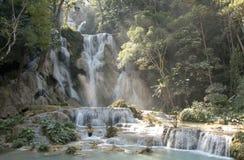 匡Si瀑布-老挝 免版税图库摄影