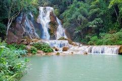 匡Si秋天。琅勃拉邦。老挝 免版税库存照片