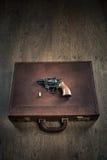 匪徒的左轮手枪 免版税库存图片