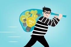匪盗窃取了您的创造性想法 免版税图库摄影
