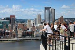 匹兹堡俯视 免版税库存图片